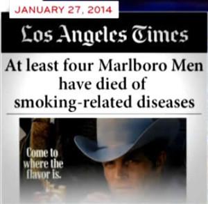 tabaks lobby marlborrow-mannen overleden